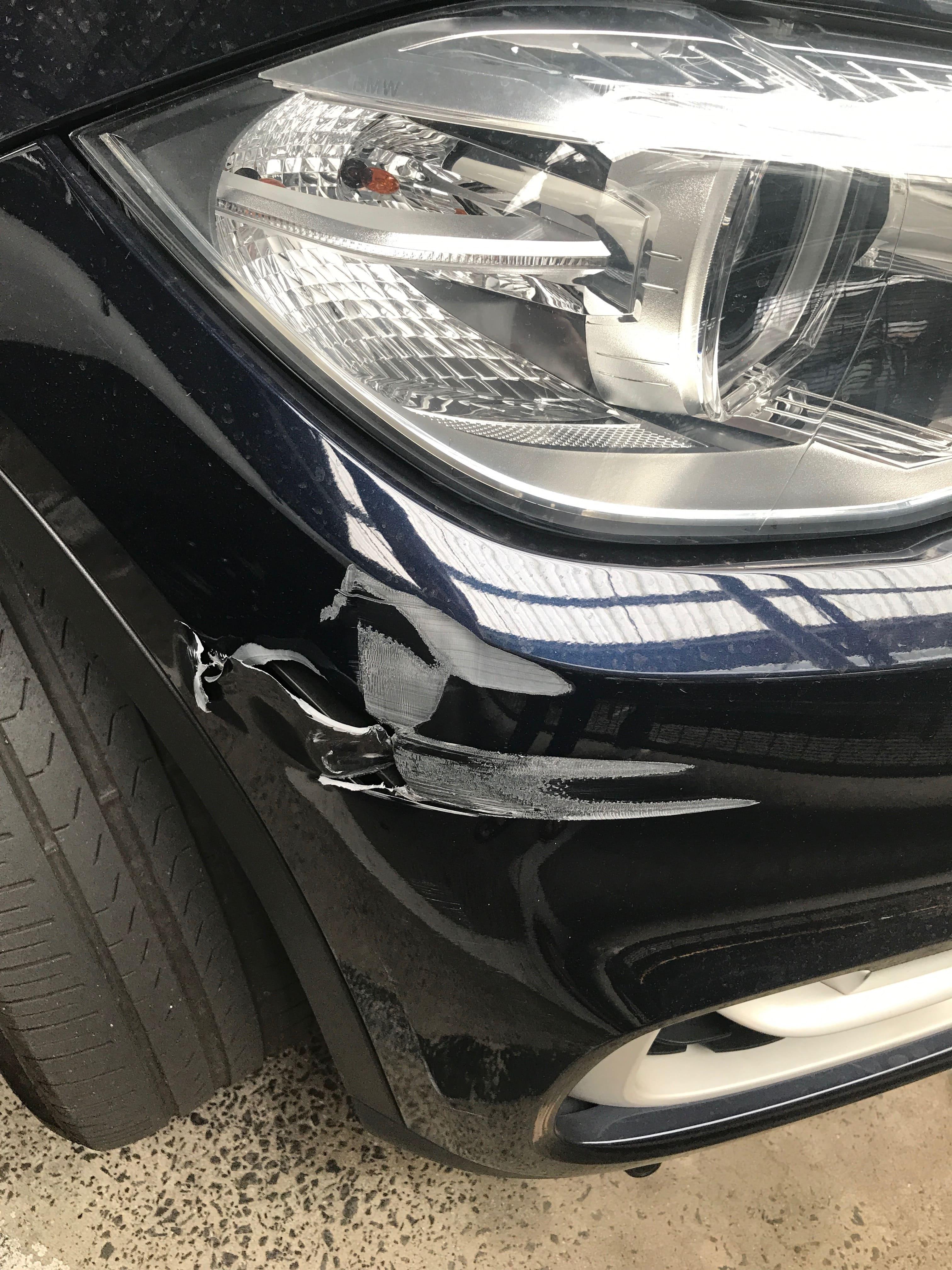 BMW - Bumper Repair - Mobile Car Scratch Repair