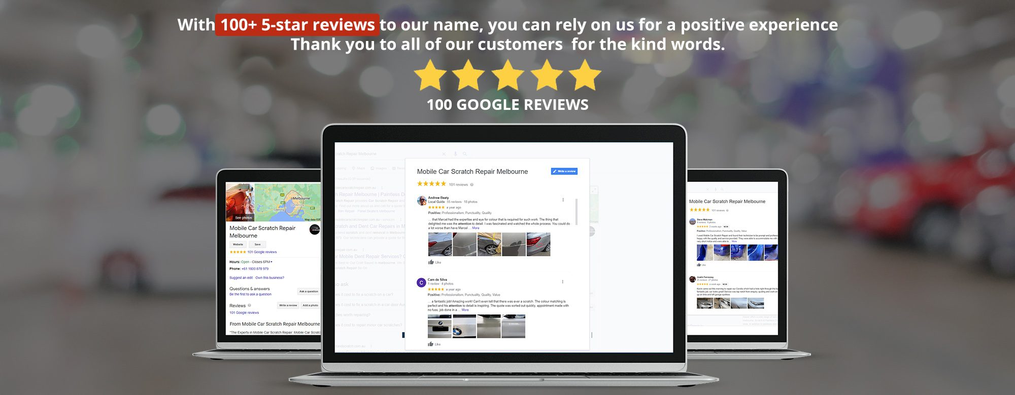 Google Reviews - Mobile Car Scratch Repair